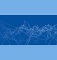 creative social network rendering of 3d vector image vector image