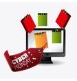Cyber monday shopping design vector image