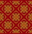 dark red background with beautiful gold ornament vector image