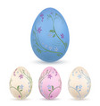 easter egg 3d icon pastel eggs set isolated vector image vector image