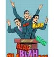 Empty political speech concept blah vector image vector image