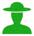 farmer person icon grunge watermark vector image vector image