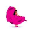flamenko dancer Cartoon vector image vector image