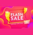 flash sale discount poster online banner design vector image vector image