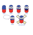 Funny Pill vector image vector image