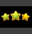 golden stars rating game vector image vector image