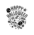 Happy Halloween logo with curving pumpkins vector image vector image