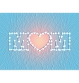 happy mothers day heart thread vector image vector image