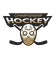 Hockey goalie mask with two sticks vector image vector image