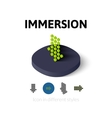 Immersion icon in different style vector image vector image
