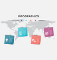 infographic design template with note papers vector image vector image