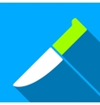 Knife Flat Long Shadow Square Icon vector image vector image