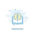 knowledge line concept simple line icon colored vector image