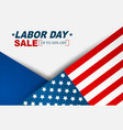 labor day sale background with usa national flag vector image vector image