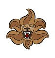 leo lion sign symbol vector image vector image