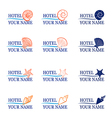 Logo hotel sea vector image