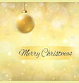 merry christmas decoration gold background 3d vector image