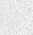 monochrome tech geometric seamless pattern vector image vector image