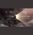 movie time realistic background vector image vector image