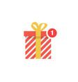 notification gift icon vector image vector image