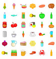 nutrition icons set cartoon style vector image vector image
