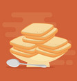 pastry bakery nutritive food vector image vector image
