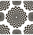 Pattern of black and white checkered squares vector image vector image