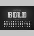 pencil bold font and alphabet sketch script and vector image vector image