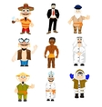 People to nationality miscellaneous vector image