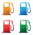 petrol pumps vector image