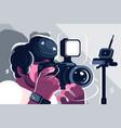 photographer on studio fashion vector image