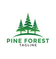 pine forest logo icon design template vector image