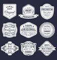 premium logos set best choice emblems quality vector image vector image