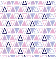 purple pastel tribal triangles repeat pattern vector image vector image