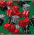 red black grey dice seamless pattern vector image