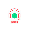 red thin line hotline icon vector image vector image