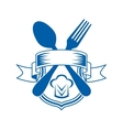 Restaurant or caterers emblem vector image vector image