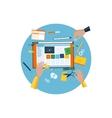 Round Icon Design Website a Constructor vector image vector image