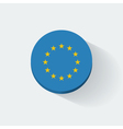 Round icon with flag of European Union vector image vector image