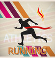 running and marathon logo vector image