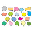set color comic speech balloons vector image