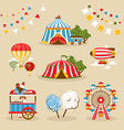Set of country fair objects vector image vector image
