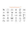 set of thirty flat line icons for a site or vector image vector image