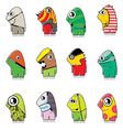 Set of twelve monster vector | Price: 1 Credit (USD $1)