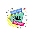 special offer sticker in trendy linear style vector image vector image