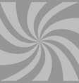 spiral background from grey curved ray stripes vector image vector image