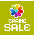 Spring Sale Green Background vector image vector image