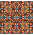 Square flower pattern symmetrical vector image vector image