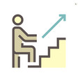 step up icon design for business training vector image