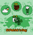 stpatricks day flat concept icons vector image